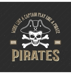 Logo of pirates print vector
