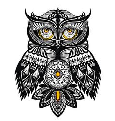 tattoo art owl vector image vector image