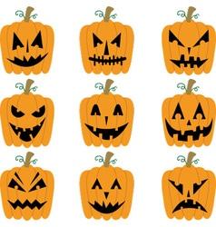 Halloween Pumpkins collections vector image vector image