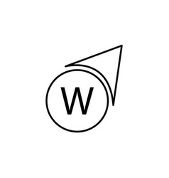 west direction icon vector image