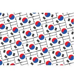 abstract south korea flag or banner vector image