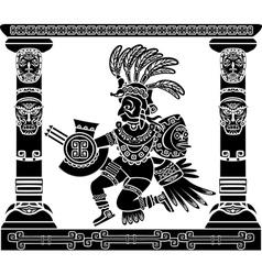 Aztec god Quetzalcoatl vector image vector image
