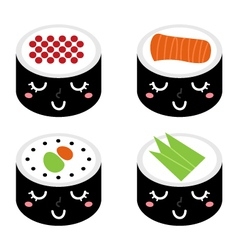 cartoon Sushi vector image vector image
