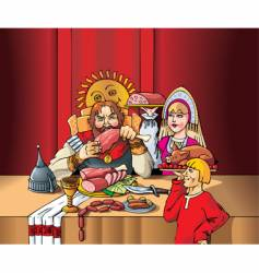 Lord's feast vector image vector image