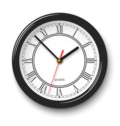 noble wall clock with roman numerals in black vector image