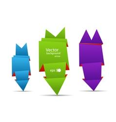 Origami arrow banners vector image vector image