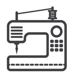 Sewing machine line icon household and appliance vector