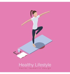 Yoga healthy life scene vector image