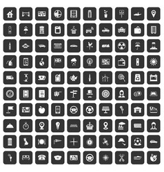 100 taxi icons set black vector image