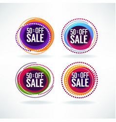 50 off sale collection bright discount vector image