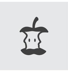 Apple stub icon vector image