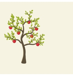 apple tree background vector image