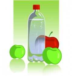 apples and mineral water vector image