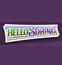 banner hello spring vector image
