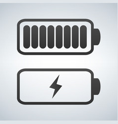 Battery icon charge from high to low vector