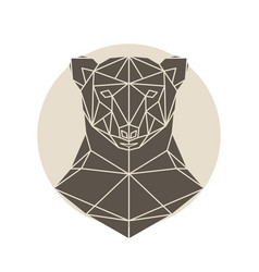 bear head triangular icon vector image