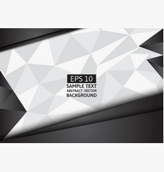 black and white polygon background with copy space vector image