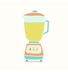 Blender making fruit smoothie vector image
