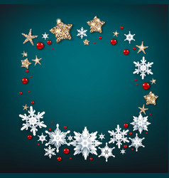 blue background and wreath vector image