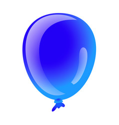 blue ballon icon cartoon style vector image