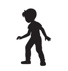Boy silhouette vector image