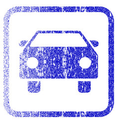 Car framed textured icon vector