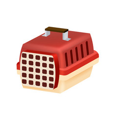 Cat transport box or carrying case icon vector