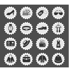 clothes shop icon set vector image