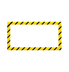 Construction warning border isolated on white vector