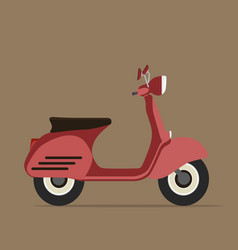 cool red motorcycle flat design vector image