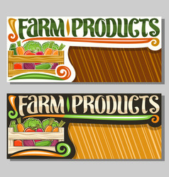 Coupons for farm products vector