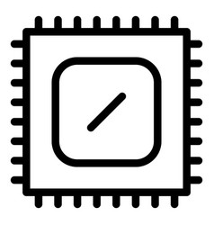 Cpu hardware icon outline style vector