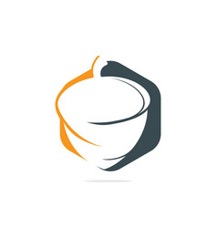 Creative acorn concept logo design vector