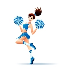 Dancing Cheerleader Girl vector