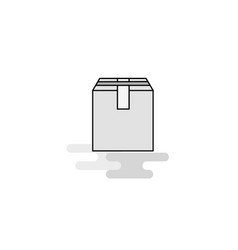database web icon flat line filled gray icon vector image