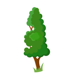 Decorative cartoon tree vector