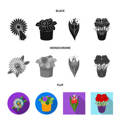 Design spring and wreath logo vector
