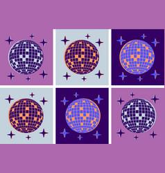 Disco ball pop art style party vector