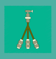 Flat shading style icon technology tripod vector