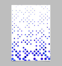 geometric dot pattern brochure background vector image