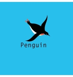 Graphic Penguin symbol vector