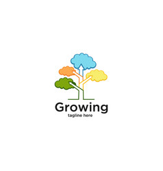 growing-tree-diagram-logo-template vector image