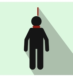 Hanged man icon flat style vector image vector image