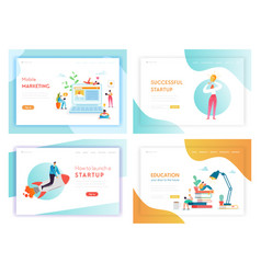 idea business innovations concept landing page vector image