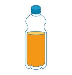 Isolated orange bottle vector