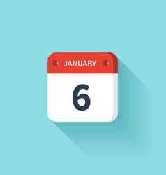 January isometric calendar icon with shadow vector