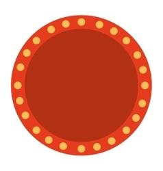 label lights show cinema icon vector image