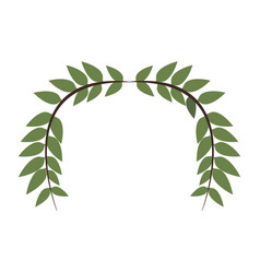 Laurel wreath round and half laurel bottom vector