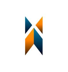 letter x logo construction logo design concept vector image