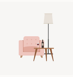 Lounge zone furniture vector